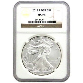 2013 Silver Eagle NGC MS70 Brown Label