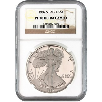 1987-S Silver Eagle NGC PF70 Ultra Cameo