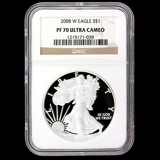2008 W Proof Silver Eagle NGC PF70 UC
