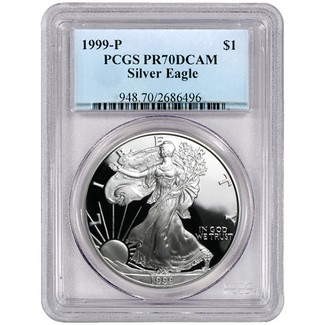 1999 P Proof Silver Eagle PCGS PR70 DCAM