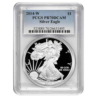 2014 Proof Silver Eagle PCGS PR70 DCAM