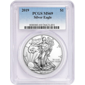 2019 Silver Eagle PCGS MS69 Blue Label