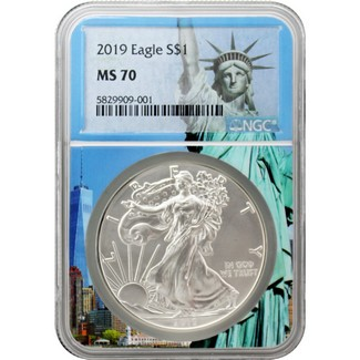 2019 Silver Eagle NGC MS70 Statue of Liberty Core