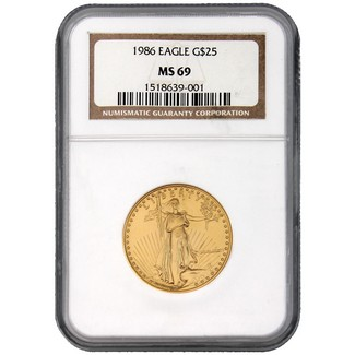 1986 $25 Gold American Eagle NGC MS-69