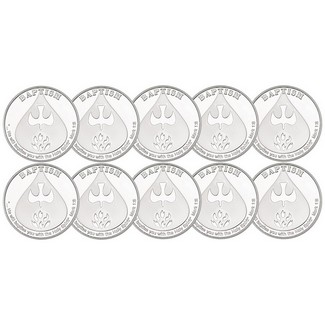 Baptism 1 Ounce .999 Silver Rounds 10 Count Dated 2018