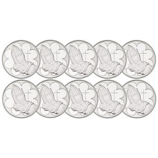 Praying Hands 1oz .999 Silver Rounds 10 Count