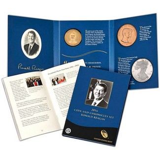 2016 Coin & Chronicles Set-Reagan in OGP