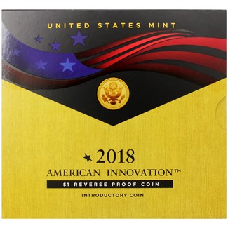 2018 S American Innovation Reverse Proof Dollar Coin in OGP