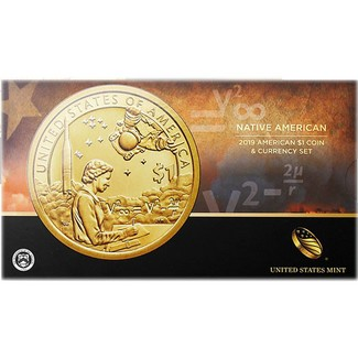 2019 Native American $1 Coin & Currency Set in OGP