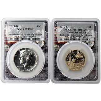 2019 Rocketship Set PCGS 70/68 PL First Day Issue Moon Frame