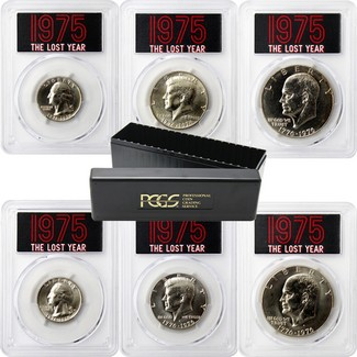 1975 'The Lost Year' Brilliant Uncirculated Coin Set