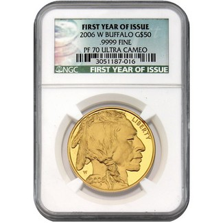 2006 W $50 Proof Gold Buffalo NGC PF70 UC FYI