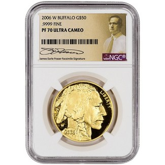 2006 W Proof $50 Gold Buffalo NGC PF70 UC Fraser Label