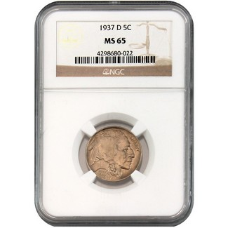 1937-D Buffalo Nickel NGC MS-65