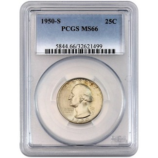 1950-S Washington Quarter PCGS MS-66