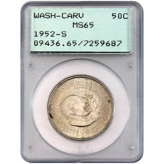 1952-S Washington/Carver Commem Half Dollar PCGS MS-65