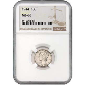1944 Mercury Dime NGC MS-66