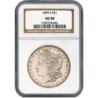 1895-S Morgan Dollar NGC AU-58