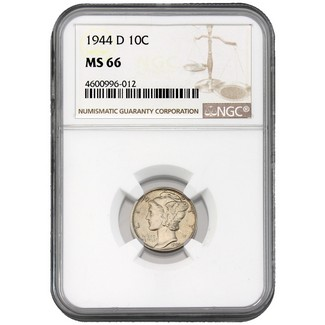 1944-D Mercury Dime NGC MS-66
