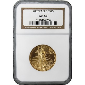 2007 $25 Gold American Eagle NGC MS-69