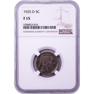 1925-D Buffalo Nickel NGC Fine-15