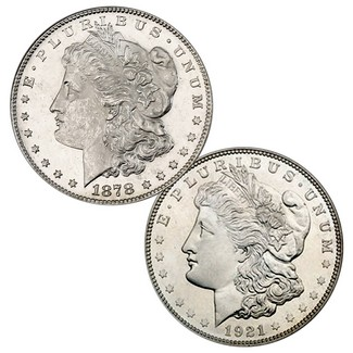 First and Last Morgan Silver Dollars