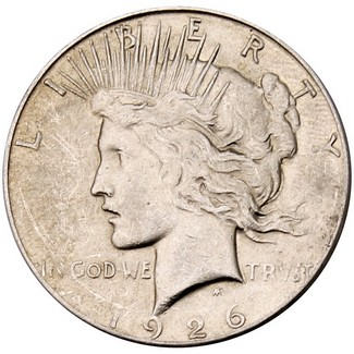 1926 S Peace Dollar VG or Better in Cap & Box