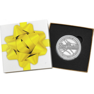 Softball Leave It All On the Field 1oz .999 Silver Medallion in Gift Box