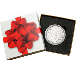 Thank You! 1oz .999 Silver Medallion in Gift Box
