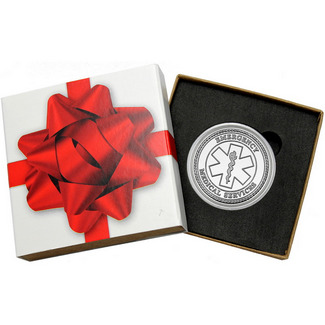 EMS Star of Life 1oz .999 Silver Medallion in Gift Box