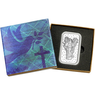 Guardian Angel 1oz .999 Silver Bar in Gift Box