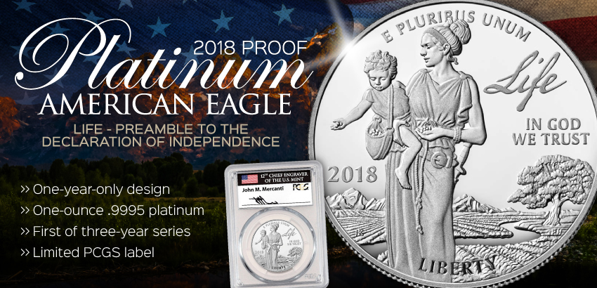 2018 Proof Platinum Eagles