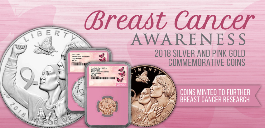 2018 Breast Cancer Coins Pink Core
