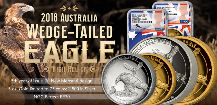 2018 Australia Wedge Tailed Eagle Coins