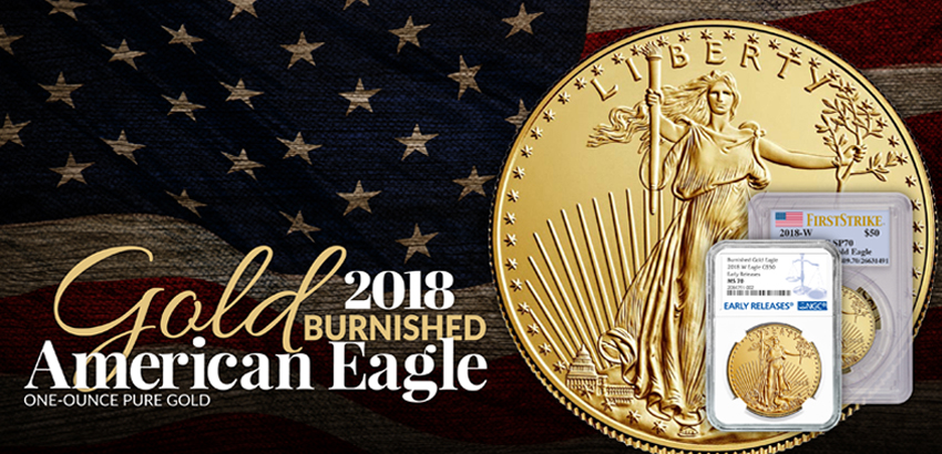 2018 W Burnished $50 1oz Gold Eagle NGC West Point Core