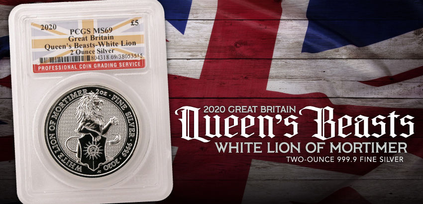 Queens Beasts White Lion